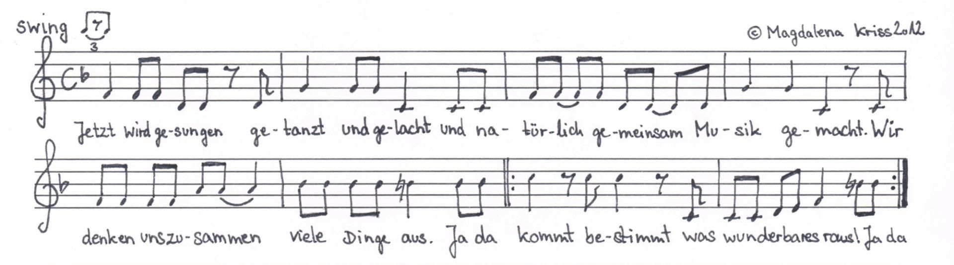 begruessungslied-notation